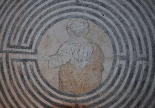 Image of Christ in the Labyrinth at Alatri, after restoration. (Image: © Giancarlo Pavat).