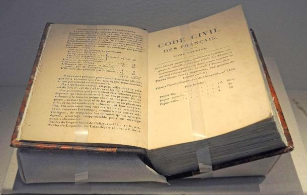 Image shows the Napoleonic Code on display in Speyer, Germany. (DerHexer / CC BY-SA 4.0)