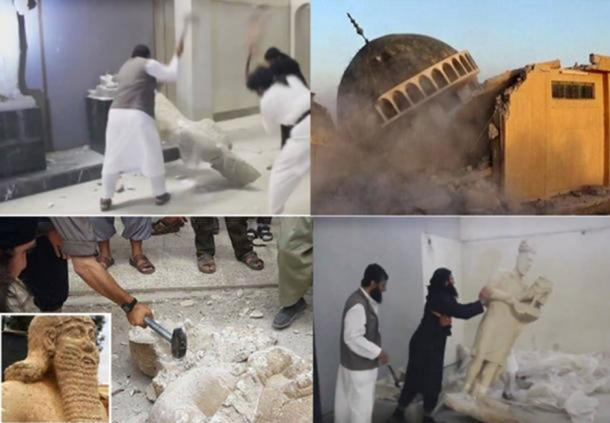 Images broadcast around the world show the sickening destruction of ancient monuments by ISIS. They also stole thousands of priceless artifacts to sell them on the black market.