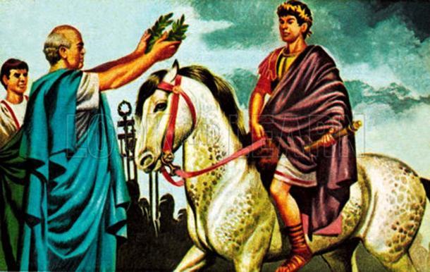 Imaginary depiction of Caligula making Incitatus a consul.