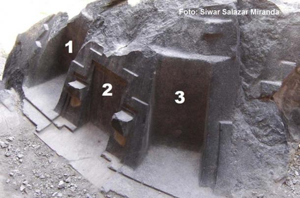 Important axes for astronomy on the stone altar.