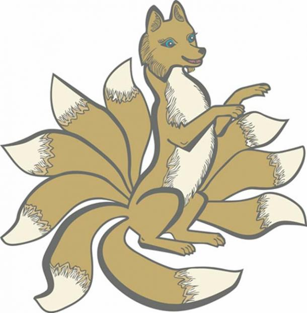 In Japanese folklore a Kitsune may have up to nine tails. (santagor / Adobe)