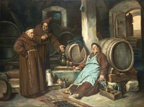 Monks in a cellar. Joseph Haier 1816-1891.