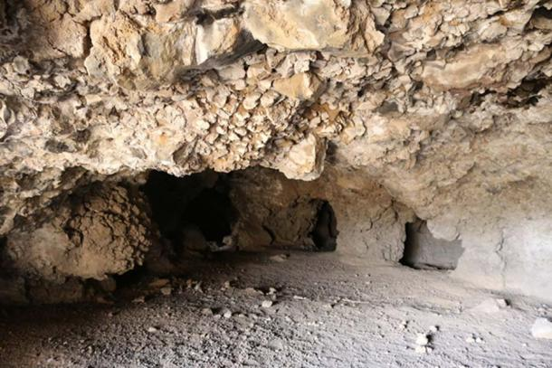 "In the ""Cueva del Pirul"", one of the largest systems of interconnected caves to the East of the Pyramid of the Sun. (Photo by author Marco M. Vigato)."