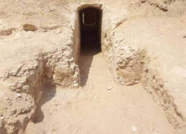 In the new cemetery, a stone vaulted corridor leads to a crypt and other chambers. (Ministry of Antiquities)