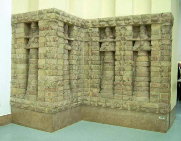 Part of the front of Inanna's temple.