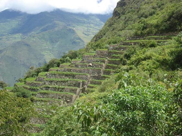 Distinctive Inca terraces at Choquequirao, which are reminiscent of sister site Machu Picchu