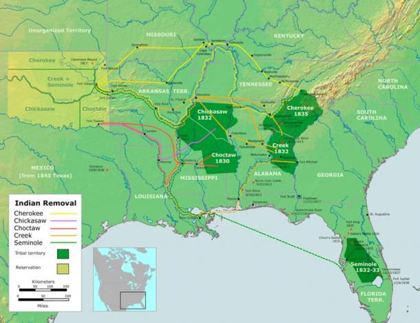 The Indian Removal Act resulted in the transplantation of several Native American tribes, Tsali fought for his people to stay on their land