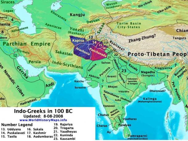 Indo-Greek territory.
