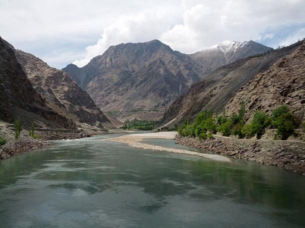 Indus River in Kharmang District, Pakistan. (CC BY-SA 3.0)