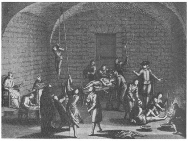 Inquisition torture chamber. (Public Domain)