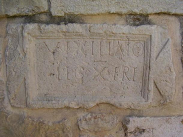 Inscription from Abu Ghosh mentioning a 'vexillatio', a detachment, of the Xth Roman legion. (Avi1111 / Public Domain)