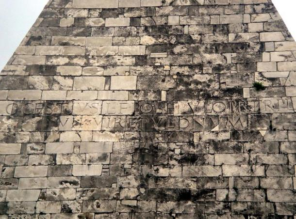 Inscription on the Pyramid of Cestius