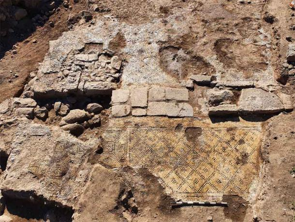 The Christ inscription was found when excavating a building in the Muslim Arab village of Taiba in northeastern Israel. (Tzachi Lang / Israel Antiquities Authority)