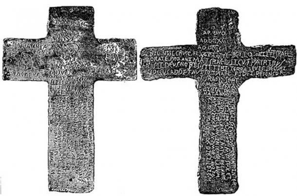 Inscriptions on The Silverbell Crosses. (Geburahs Secret / YouTube)