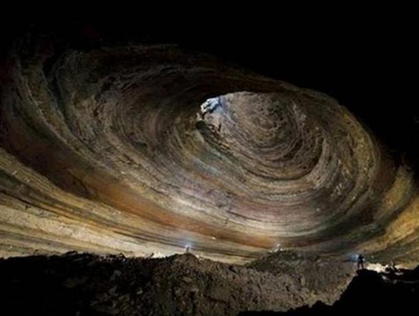 Inside Krubera Cave, Georgia