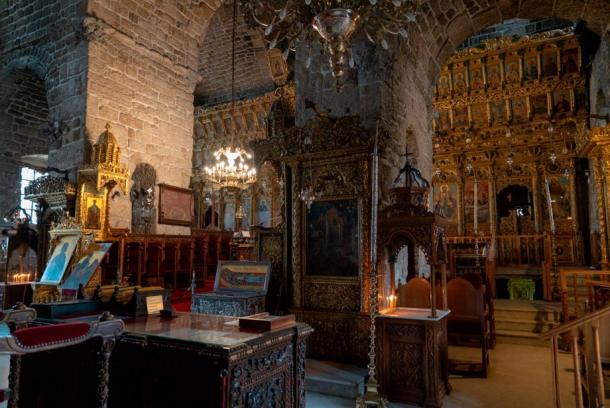 Inside Saint Lazarus Church.