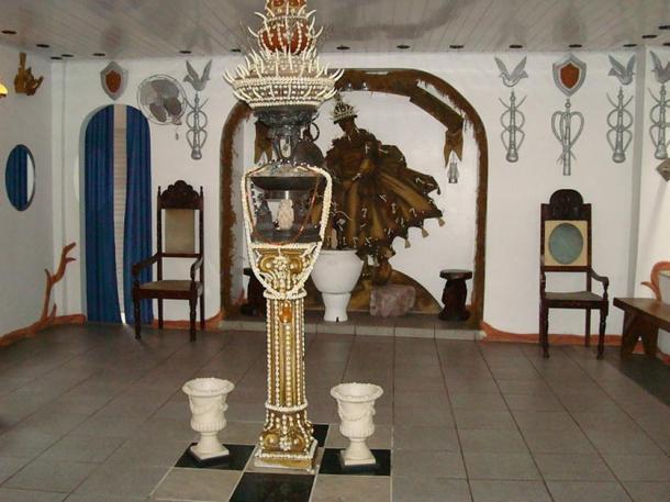 Inside a terreiro (Candomblé temple). Bahia, Brazil.