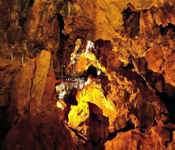 Inside the Victoria Cave in Cartagena, Spain.