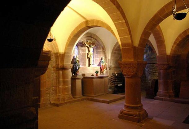 Inside the chapel at Mont Sainte-Odile
