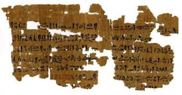 Instructions for a 3,500-year-old pregnancy test. (Carlsberg Papyrus Collection / University of Copenhagen)