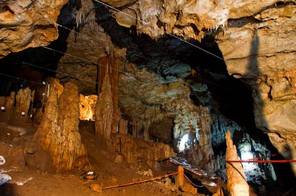 Interior of Manot cave