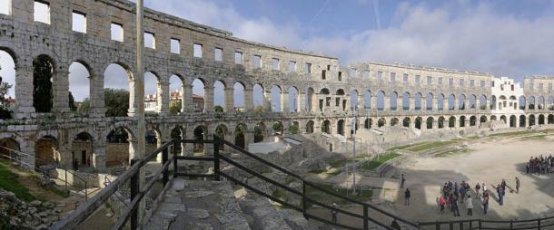 Interior of Pula arena.