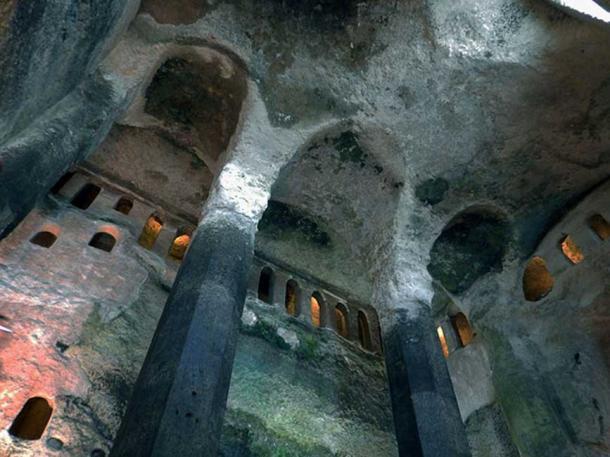 Interior of Saint-Jean monolithic church