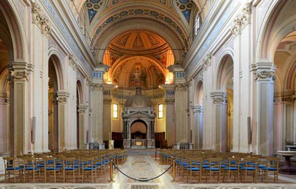 Interior of the Basilica dei Santi Bonifacio ed Alessio, Rome, Italy. (Livioandronico2013/CC BY SA 4.0)