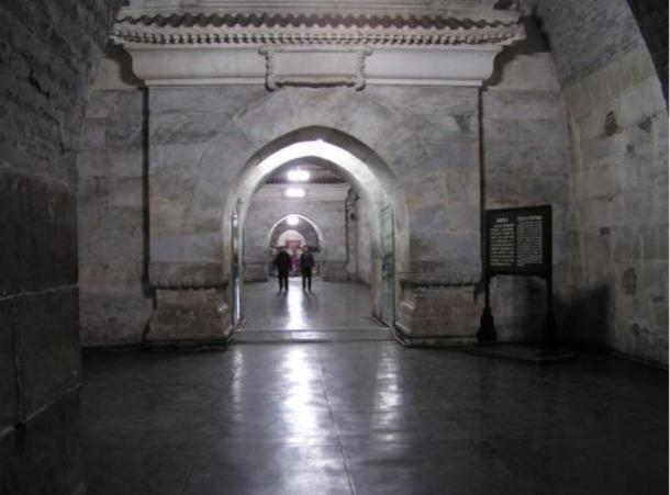 Interior of the Dingling Tomb, a part of the Ming Dynasty Tombs, collection of mausoleums built by the Chinese Ming dynasty emperors.