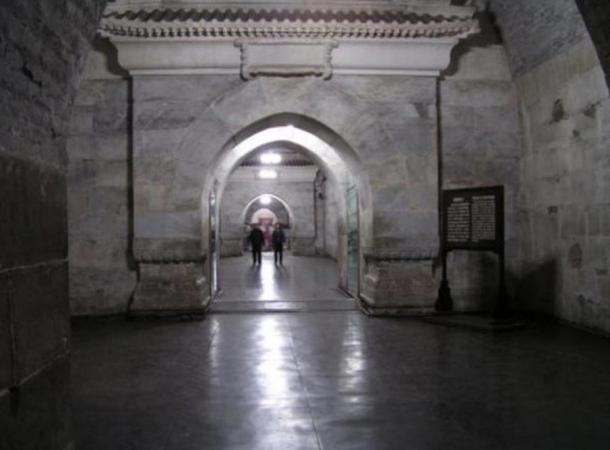 Interior of the Dingling Tomb, a part of the Ming Dynasty Tombs, collection of mausoleums built by the Chinese Ming dynasty emperors. Representational image.
