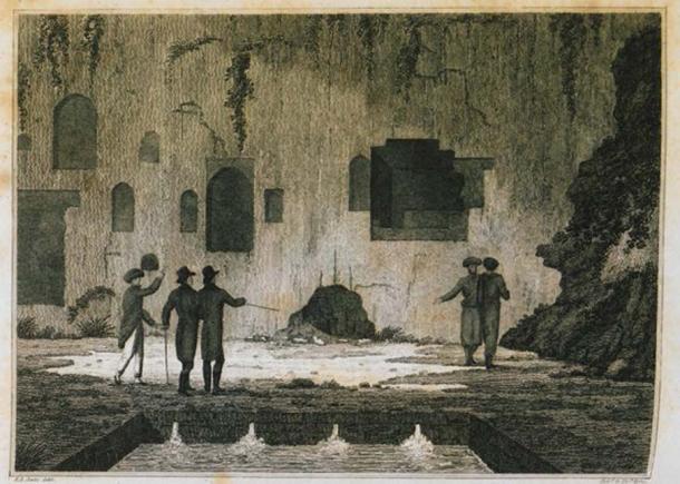 Interior of the Oracle of Trophonius in Livadeia. (public domain)
