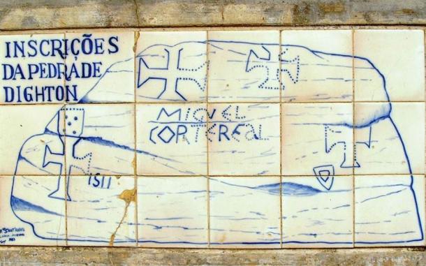 Interpretation of the Dighton Rock inscriptions as they are presented at the Museu da Marinha, Lisbon, Portugal.