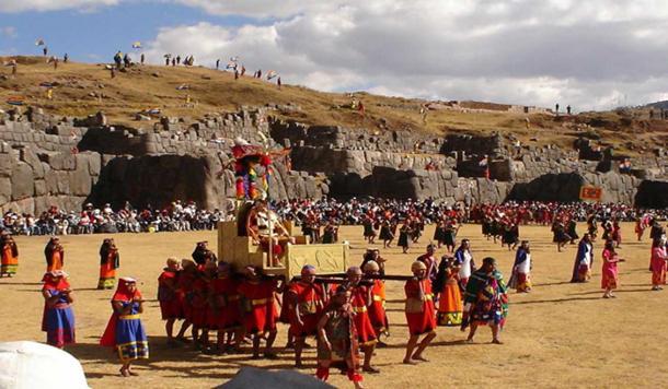 Inti Raymi, or Festival of the Sun at Saksaywaman, Cuzco. (Cyntia Motta/CC BY-SA 3.0)