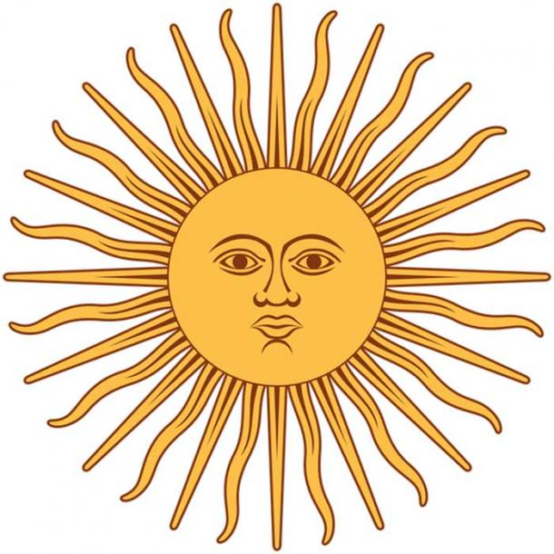 Symbol of Inti the Incan Sun God.