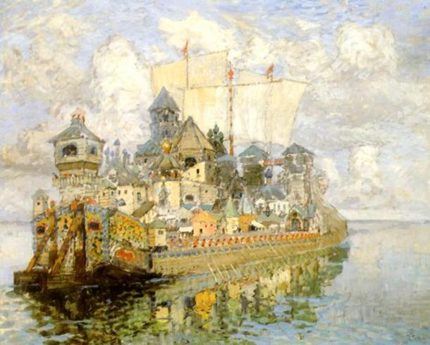 The Invisible Town of Kitezh (1913) by Konstantin Gorbatov, 1876-1945