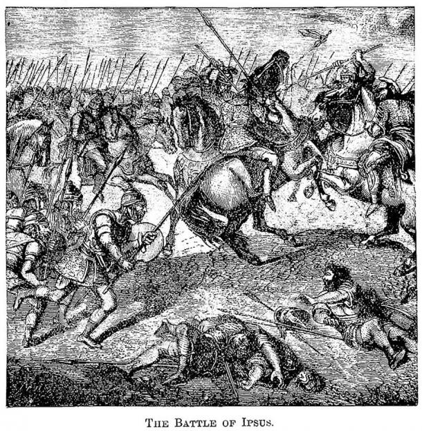 In the Battle of Ipsus, Lysimachus and his allies decisively defeated Antigonus. (James D McCabe 1877 / Public domain)