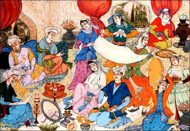 Iranian wedding ceremony. (Public Domain)