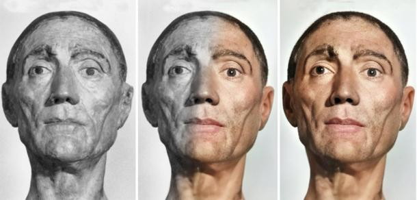 Irish digital artist Matt Loughrey's reconstruction of the bust of King Henry VII of England. (Courtesy of Matt Loughrey / My Colorful Past)