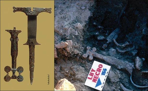 Iron Age artifacts recovered from the Spanish prehistoric massacre site at La Hoya, Spain. (Antiquity Publications Ltd)