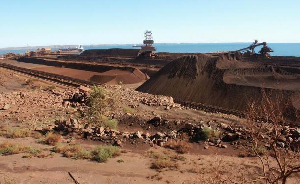 An Iron Ore mine in Dampier, Western Australia.