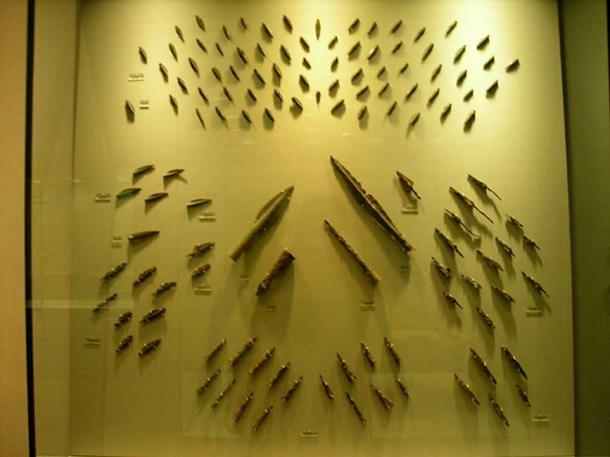 Iron arrowheads and spearheads found in the hill where the last defenders at Thermopylae fell.