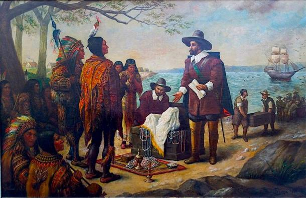 Iroquois engaging in trade with Europeans. (Sporti / Public Domain)