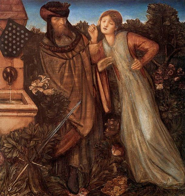 Iseult with King Mark, Edward Burne-Jones