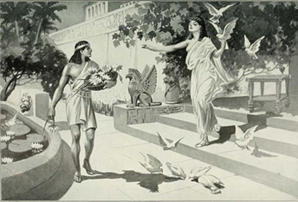 Ishtar (on right) comes to Sargon, who would later become one of the famous kings of Mesopotamia.