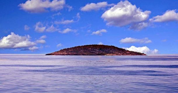 The Island of Blå Jungfrun, Sweden.