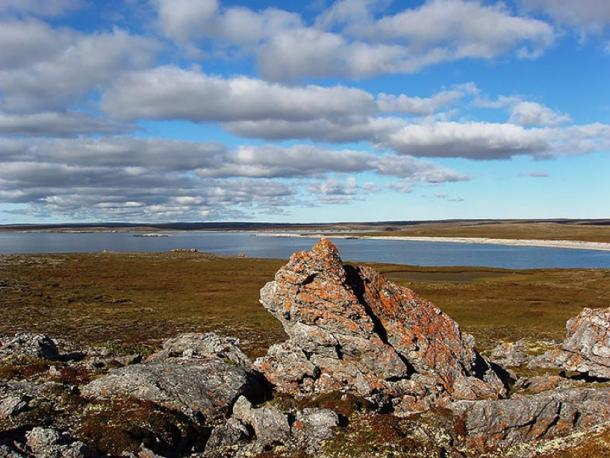 'It is surrounded on all sides by the sea, removed from the mainland and separated from it by a natural barrier - the Yugorsky Strait. (Image: The Siberian Times)