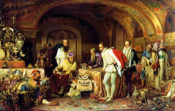 Ivan the Terrible showing his treasures to the English ambassador Horsey. (Alexander Litovchenko /Public domain)