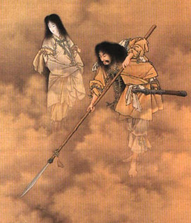 Izanami and Izanagi, two powerful deities in Japan and the first gods, they were both spouse and siblings.