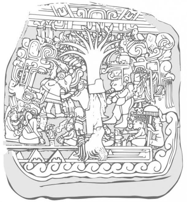A drawing of Izapa Stela No. 5.